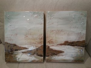 From Alexandra Drake's Landscape Series... 12x16 wooden canvases, $250 each.