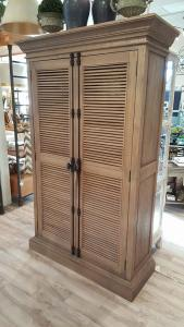 "Louvered Cabinet 49.2""W x 18.9""D x 78""H"